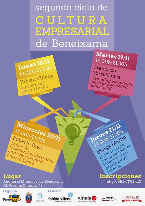 Cartel 2º Ciclo Cultura Empresarial de Beneixa