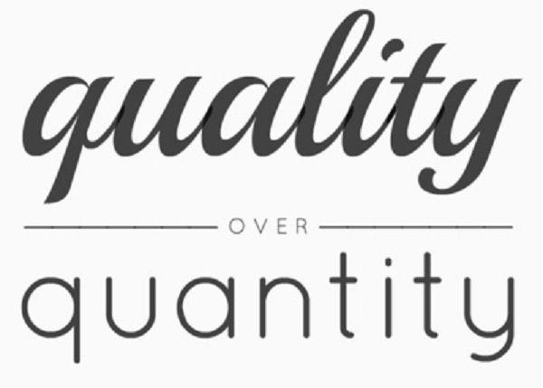 El eterno dilema: cantidad frente a calidad