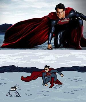 Incluso Superman quiere ser un selfie