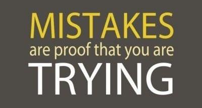 A veces los errores son la prueba