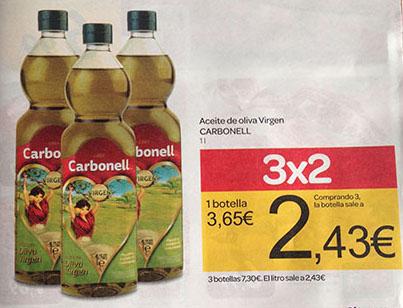 Promoción de 3x2 en folleto publicitario