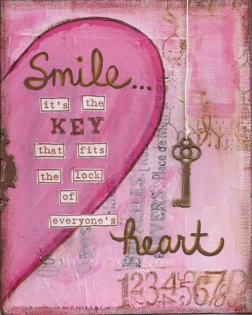 La sonrisa es la llave de todos los corazones