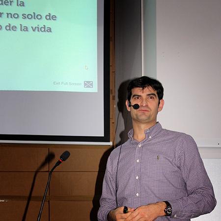 Mi bro Juan Rubén García en Cultura Marketing Alcoy