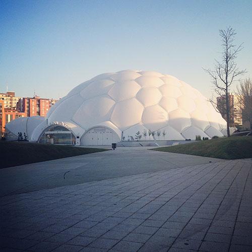 La espectacular Cúpula del Milenio de Valladolid