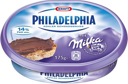 Co-branding entre Philadelphia y Milka