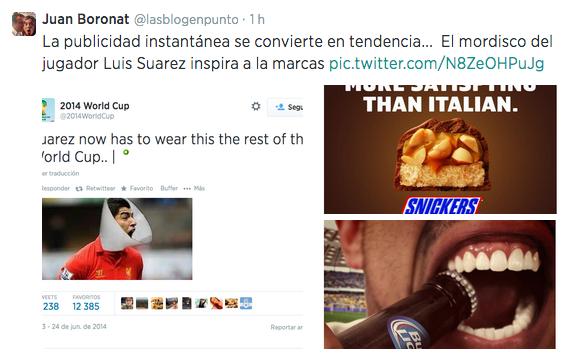 El tuit de Juan Boronat sobre la publicidad instantánea