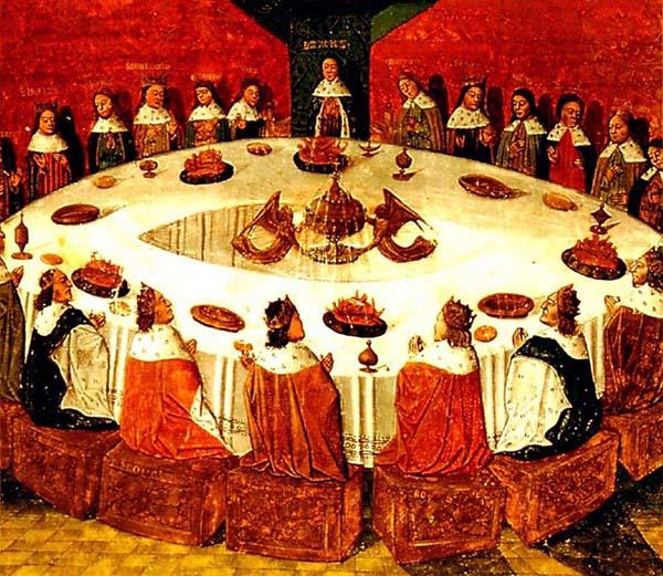 Caballeros de la Mesa Redonda, ilustración anónima