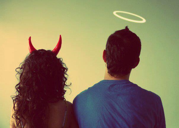 La dualidad de mi voz interior: angel y demonio