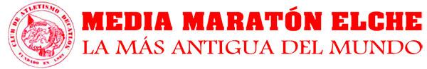 Logo y slogan de la Media Maratón de Elche