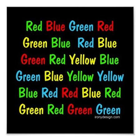 Efecto Stroop: palabras y colores cambian su modo aparente
