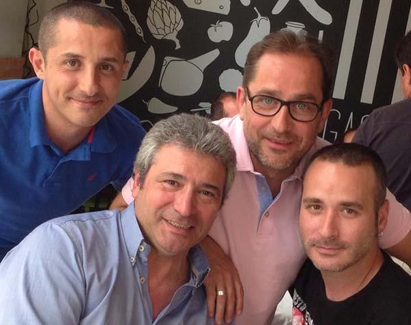 Junto a Rafa Sanjuán, Juan Carlos Francés y Pepe Valiente