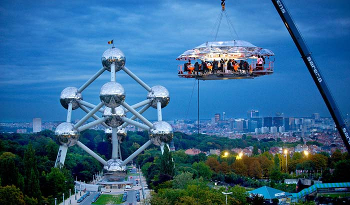 Productos singulares: Dinner in the Sky Restaurante