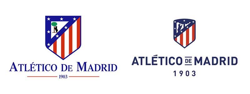Club Atlético de Madrid: evolución de las marcas en el fútbol