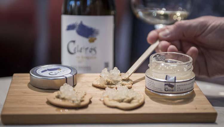 Productos singulares: Esferificaciones de Vino Albariño Celeirós