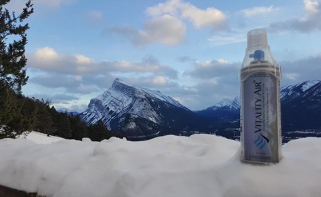 Productos singulares: Aire fresco embotellado Vitality Air