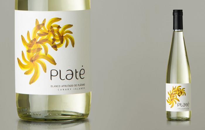 Productos singulares: Platé vino de Plátano de Canarias