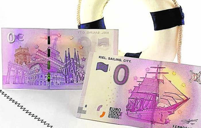 Billetes de cero euros, creatividad con dosis de irracionalidad