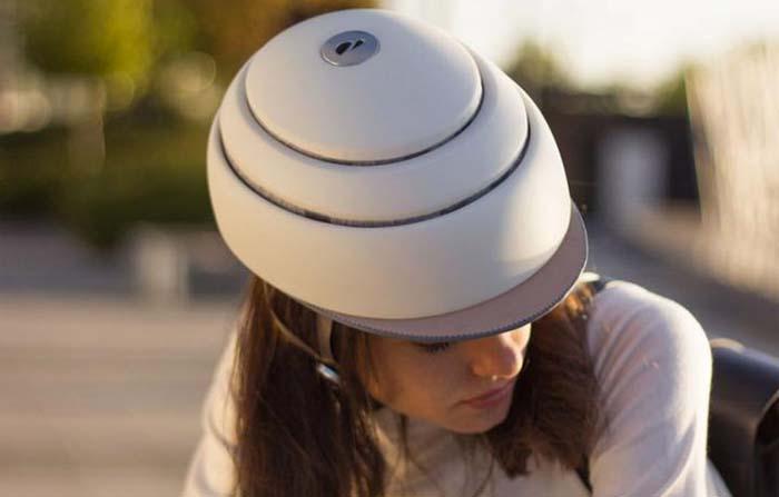 Productos singulares: Closca Helmet casco plegable para ciclistas urbanos