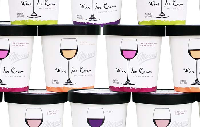 Productos singulares: Mercer's Dairy helados de vino