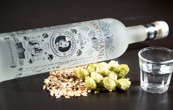 Productos singulares: Santamanía vodka de cerveza