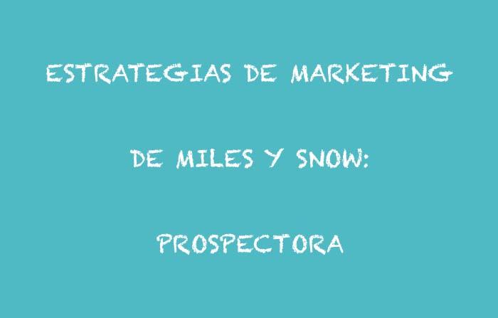 Estrategias de marketing de Raymond Miles y Charles Snow: Prospectora