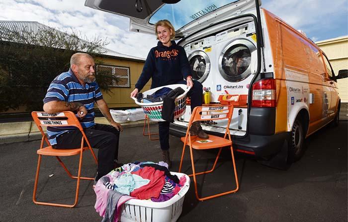 Productos singulares: Orange Sky, lavanderías para personas sin hogar