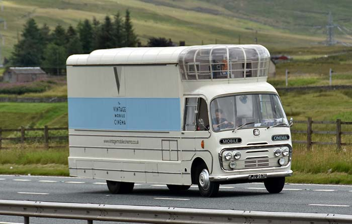 Productos singulares: The Vintage Mobile Cinema, el cine itinerante