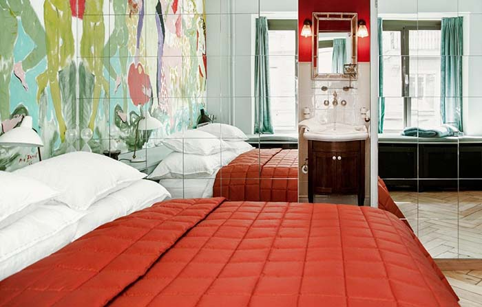 Productos singulares: Hotel Milchbar Zúrich, una obra de arte habitable