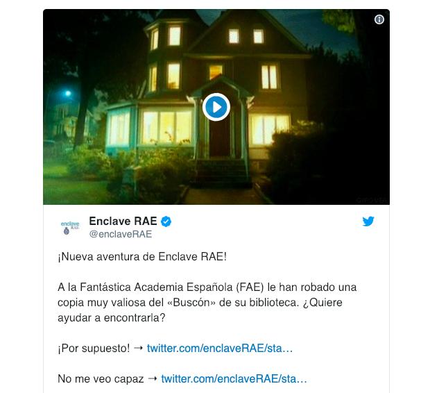 Innovador y creativo reto de aprendizaje lingüístico de la RAE en Twitter