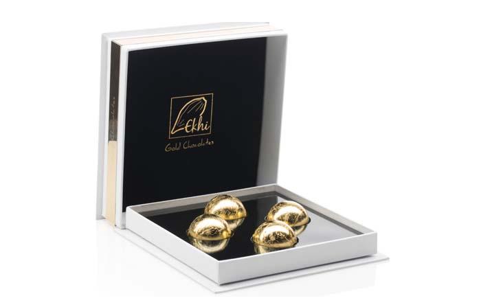 Productos singulares: Ekhi Gold, el exquisito chocolate cubierto de oro