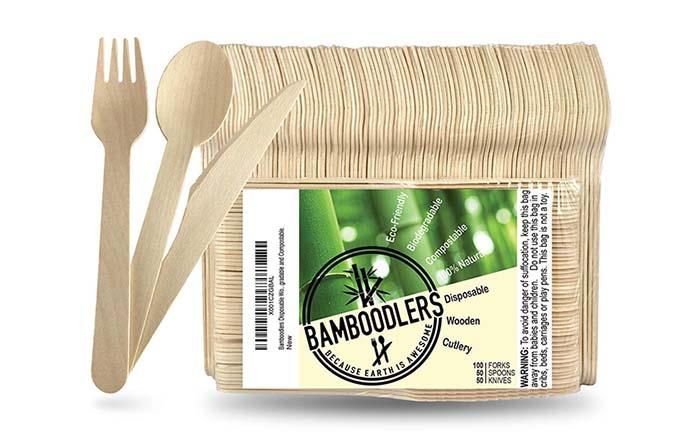 Bamboolerds, cubiertos desechables de madera hechos de bambú