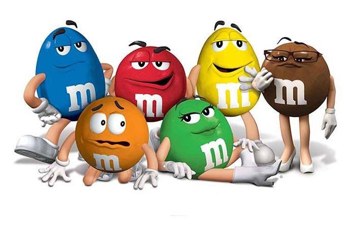 Origen y curiosidades de mascotas de marca: Muñecos M&Ms