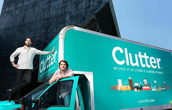 Clutter, trasteros externos con servicio de recogida y entrega