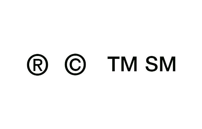 Símbolos que acompañan a las marcas y su significado: R, TM, SM y C