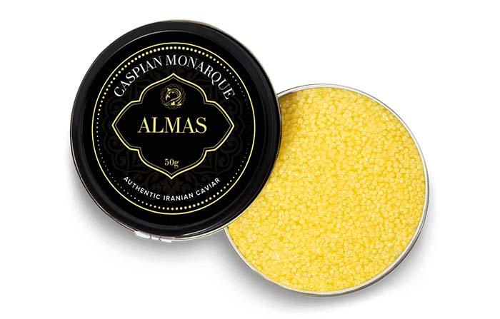 Almas, el caviar beluga mas raro y exquisito del mundo