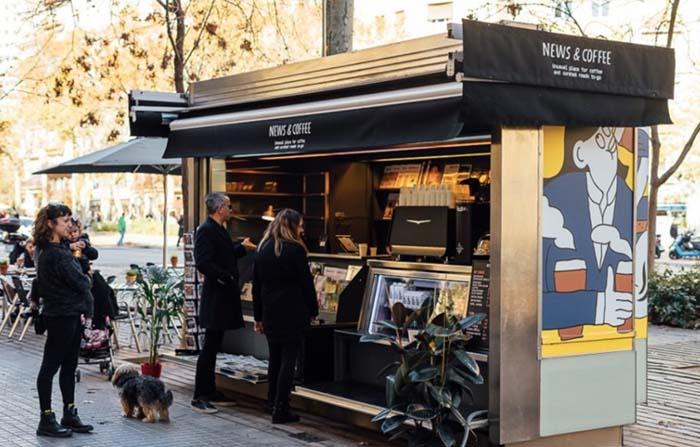 News&Coffee, la reinvención de un kiosco de prensa en cafetería