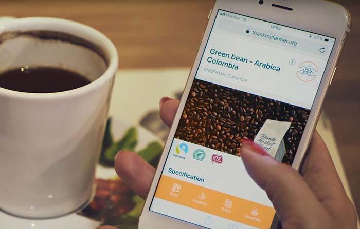 Thank My Farmer, aplicación que cuenta la historia tras una taza de café