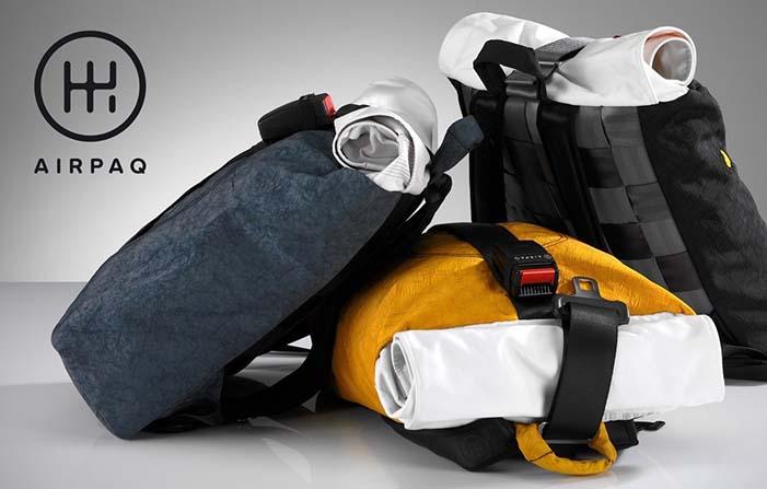 Airpaq, mochilas sostenibles elaboradas con residuos de coches