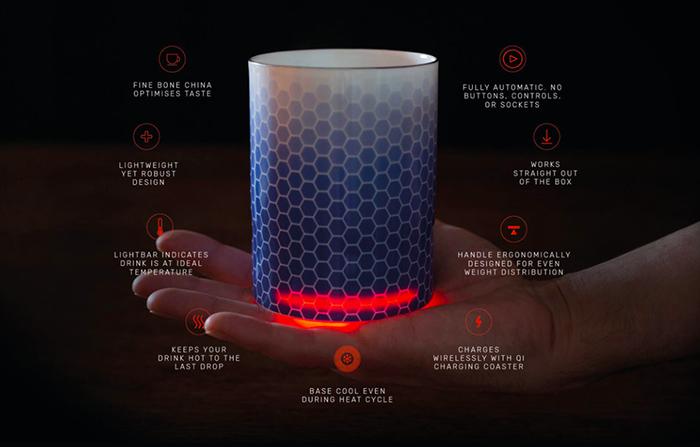 Glowstone, la taza inteligente que mantiene la bebida caliente