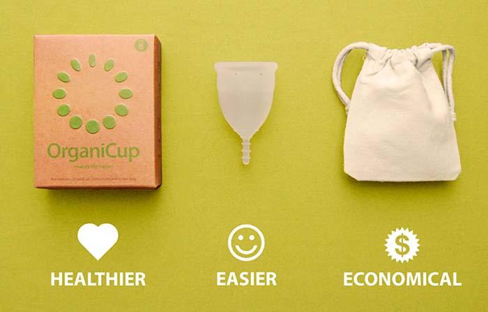 OrganiCup, copa menstrual que reemplaza a compresas y tampones