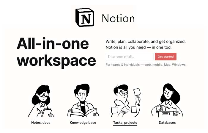 Notion, aplicación de productividad personal en la nube