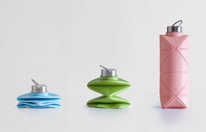 Difold, botella plegable que se inspira en el origami