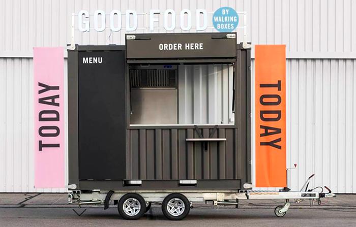 Walking Boxes, contenedores recuperados y convertidos en food trucks