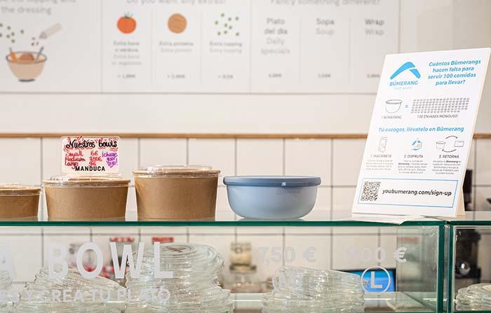 Bûmerang, envases reutilizables enfocados en la tendencia take away