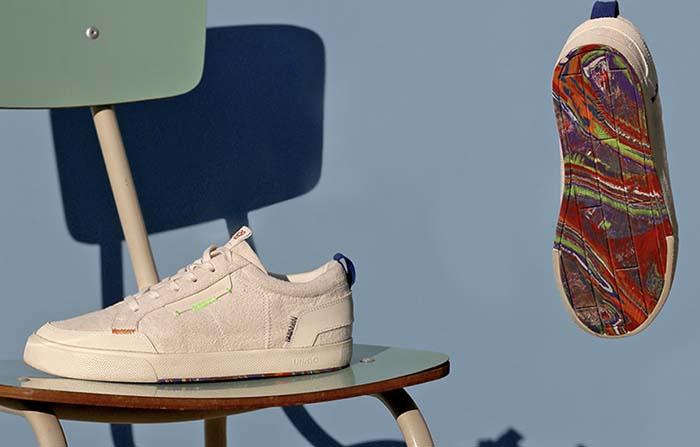 Nuven, sneakers fabricados con restos de globos y neumáticos